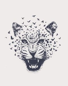 Nature´s Roar by DanielTeixeira_Artworks - Tattoo Lion Cats Leopard Tiger - Tiere Pencil Drawings Of Animals, Bird Drawings, Art Drawings Sketches, Sketch Art, Tattoo Drawings, Body Art Tattoos, Leopard Tattoos, Animal Tattoos, Snow Leopard Tattoo