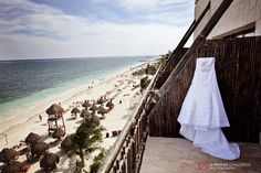 Gorgeous shot of a wedding dress at Dreams Resorts Riviera Cancun