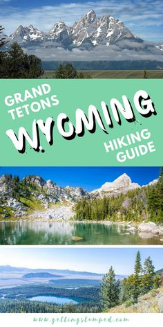 The ultimate hiking guide for Grand Tetons National Park Wyoming Located near Yellowstone National Park take a road trip to one of the top hiking destinations filled with. Best Places To Travel, New Travel, Travel Usa, Travel Hair, Grand Teton National Park, National Parks, Yellowstone Nationalpark, Hiking Guide, Hiking Trails