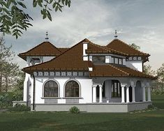 Old Country Houses, Design Case, Cool House Designs, Osho, Traditional House, Home Goods, Farmhouse, Mansions, House Styles