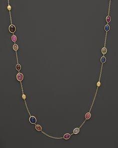 """Marco Bicego Siviglia Sapphire Necklace, 36"""""""