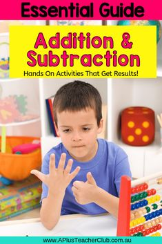 Teaching Addition and Subtraction and don't know where to start? Best tips & Printables to make teaching addition & subtraction a breeze! Teaching Addition, Addition Activities, Addition Games, Addition And Subtraction, Subtraction Strategies, Subtraction Activities, Kindergarten Math Activities, Help Teaching, Teaching Math