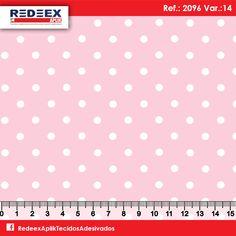 Estampa Pois (Poá) Rosa   Desenho 2096 Variante 14 . Disponibilidade de Larguras e Comprimentos sob consulta!
