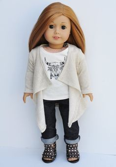 American Girl Doll Clothes Cardigan Wrap by LoriLizGirlsandDolls