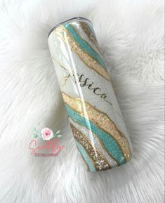 Glitter Tumblers, Glitter Cups, Bleach Dye, Custom Cups, Tumbler Designs, Tumbler Cups, Drinkware, Girly Things, Sunglasses Case