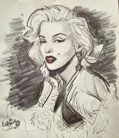 Cinematic: Marilyn Monroe by ElectricDawgy / This image first pinned to Marilyn Monroe art board here: https://www.pinterest.com/fairbanksgrafix/marilyn-monroe-art/ #Art #MarilynMonroe