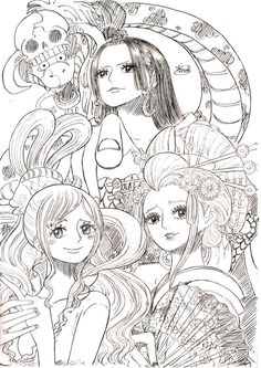 Beautiful Girls by – One Piece Anime One Piece, One Piece Fanart, One Piece Luffy, One Piece Tattoos, Pieces Tattoo, Watch One Piece, One Piece World, Anime Oc, Chica Anime Manga