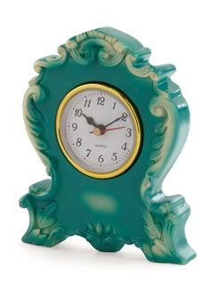 its never too ornate clock in teal