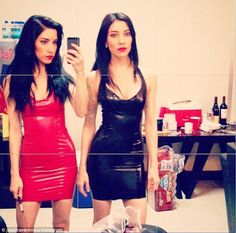 Lavish in latex! Twins Lisa and Jessica Origliasso, better known as The Veronicas.
