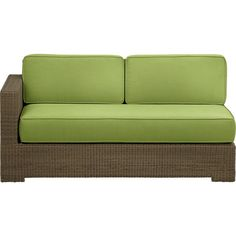 Sanibel Modular Left Arm Loveseat with Sunbrella® Caliente Cushions in Outdoor Sectionals | Crate and Barrel
