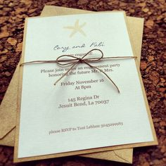 Totally easy way to give printed invite a handmade look