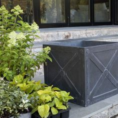 Estate planters, teak planters, Fiberclay planters, Terrazolite planters, window boxes and other outdoor planter boxes by Thos. Baker--your source for coastal casual style. Zinc Planters, Outdoor Planters, Garden Planters, Outdoor Decor, Outdoor Furniture, Outdoor Living, Potted Garden, Outdoor Retreat, Bonsai Garden