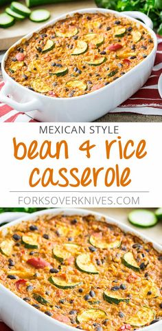 Mexican Style Bean and Rice Casserole - Plant-Based Vegan Recipe
