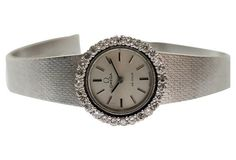 18K Gold Diamond Omega Ladies Watch