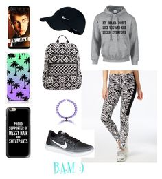 """""""Pick a phone case to go with your lazy day:)"""" by minnochbe on Polyvore featuring NIKE, Justin Bieber, Vera Bradley, Casetify and The Small Print."""