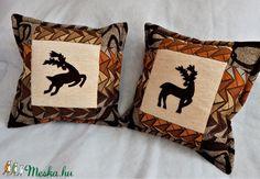 Vadász párna 2 db (ednatextilmuhely) - Meska.hu Deer Decor, Throw Pillows, Diy, Toss Pillows, Cushions, Bricolage, Decorative Pillows, Do It Yourself, Decor Pillows