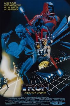 "eaion: "" artamis: "" vazetti: "" Tron "" In the future video game battles will be a matter of life or death. LOL do you guys get the feeling the cover artist didn't watch the film? Science Fiction, Fiction Movies, Sci Fi Movies, Disney Movies, Movie Tv, Hd Movies, Tron Legacy, Bruce Boxleitner, Retro"