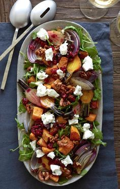 Roasted Butternut Squash Salad with honey balsamic dressing www ...