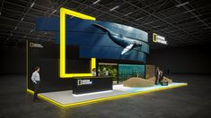 Exhibition Stands For National Geographic 2018 designed by GM stand design. Exhibition Stall Design, Exhibition Display, Exhibition Space, Exhibition Stands, Exhibit Design, Trade Show Booth Design, Display Design, Street Marketing, Guerrilla Marketing