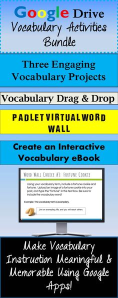 Make vocabulary words meaningful for your students with these high-interest activities formatted for Google Drive!