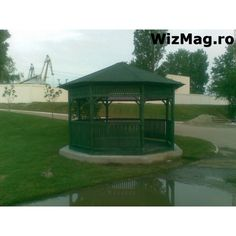 Foisor rustic octogonal Curtea de Arges Gazebo, Outdoor Structures, Rustic, Italia, Country Primitive, Kiosk, Pavilion, Retro, Farmhouse Style