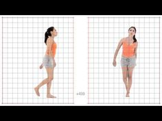 ▶ Animation Reference - Young Adult Female walk dazed - Grid Overlay - YouTube