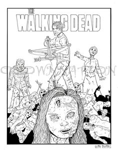42 Best Walking Dead Coloring Book Images Movies Board How To