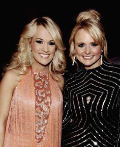#CarrieUnderwood and #MirandaLambert - 2012 ACA Awards