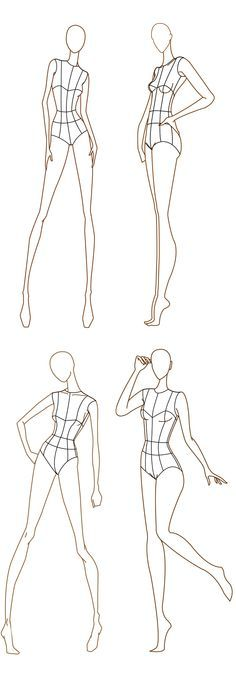 Free download - Fashion design templates. more here http://www.designersnexus.com/design/free-fashion-croquis-templates/