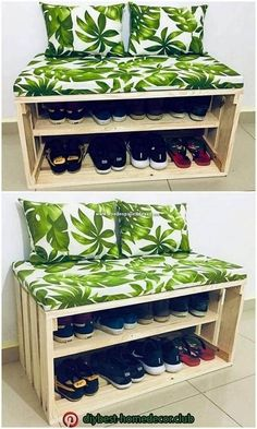 Pallet Seating, Pallet Sofa, Diy Pallet Furniture, Diy Pallet Projects, Furniture Ideas, Outdoor Pallet, Garden Pallet, Furniture Stores, Rustic Furniture