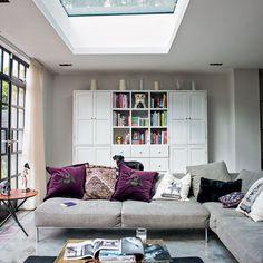 Living Room Design with L-Shaped Sofa Set