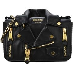 Moschino Shoulder Bag (€1.640) ❤ liked on Polyvore featuring bags, handbags, shoulder bags, purses, black, metallic handbags, moschino purse, moschino, shoulder bag handbag and shoulder strap handbags