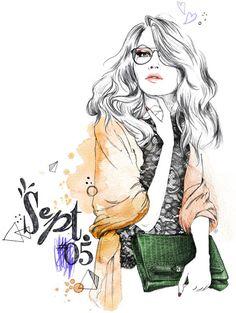 Ilustração da forma por Lutheen - 50 Linda moda Ilustrações <3 <3