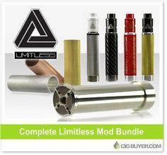 Limitless Mod, Sleeve & RDA Bundle – From $177.43: http://www.cigbuyer.com/limitless-mod-sleeve-rda-bundle/ #vaping #mechmod #mechanicalmod #limitlessmod #vapelife #vapedeals