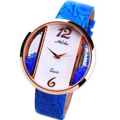 Luxurious Bling Real Leather Ceramic Women\'s Luxury Watch - USD $105.95 from Picsity.com