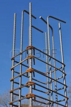 cemento armato: Barra di rinforzo alias di rinforzo in acciaio o armature per struttura in cemento armato