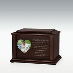 Small Adoration Photo Cremation Urn - Engravable