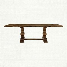 "Arhaus Furniture- Kensington 72"" Rectangle Extension Dining Table in Brown extends to 102"", 30.75"" H x 39.5"" W"