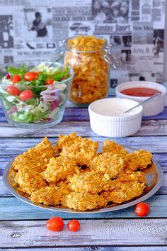 Kurczaki Crunchy są pikantne, chrupiące i lekkie, bo bez dodatku tłuszczu. Robi się je bardzo szybko a zjada jeszcze szybciej. Zobacz przepis.