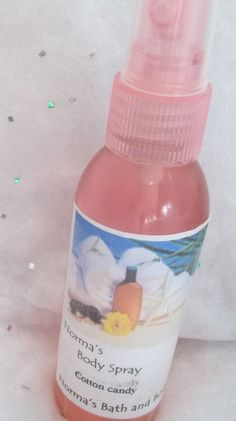 cotton candy body mist by normasbath on Etsy, $5