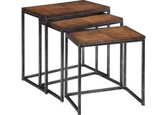 Vanler Cherry Nesting Tables  - Accent Tables Dark Wood