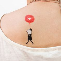 Heart tattoos for Valentine's Day and other cool washable ones