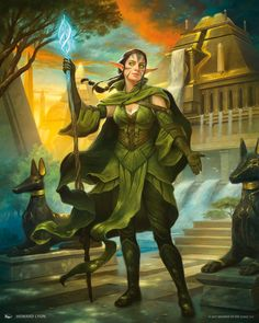 Nissa MtG Art by Howard Lyon