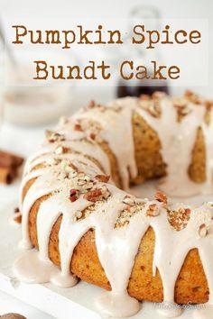 Pumpkin Spice Bundt Cake with pumpkin, pecans and coconut #pumpkinspicebundtcake #pumpkinspicecake #pumpkincake #pumpkinbundtcake #autumnbaking #fallbaking #mapleicing #maplefrosting #littlesugarsnaps