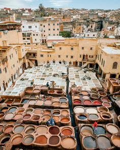 ⠀ Chouara Tannery, old Fez, Morocco