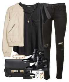 """Untitled #1438"" by plainly-marie ❤ liked on Polyvore featuring rag & bone, H&M, Joie, Proenza Schouler and ASOS"