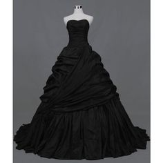 Black Wedding Dress Available in Every Color 3 ❤ liked on Polyvore featuring dresses, wedding dresses and gowns