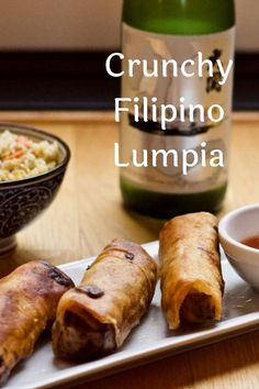 Crispy and delicious! Filipino Lumpia is a game changer. You will never reach for store bought agan. Filipino Recipes, Asian Recipes, Ethnic Recipes, Easy Appetizer Recipes, Appetizers For Party, Lumpia, Family Meals, Family Recipes, Egg Rolls