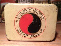 Very Rare Players Cut Plug Pocket Tobacco Tin