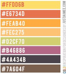 Love this fall Color Inspiration Palette by JustJaimee!